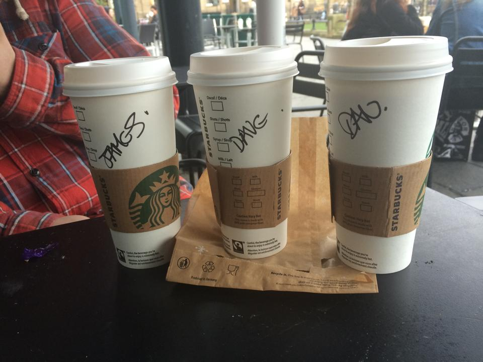 Granulr Team Startbucks Coffee Cups