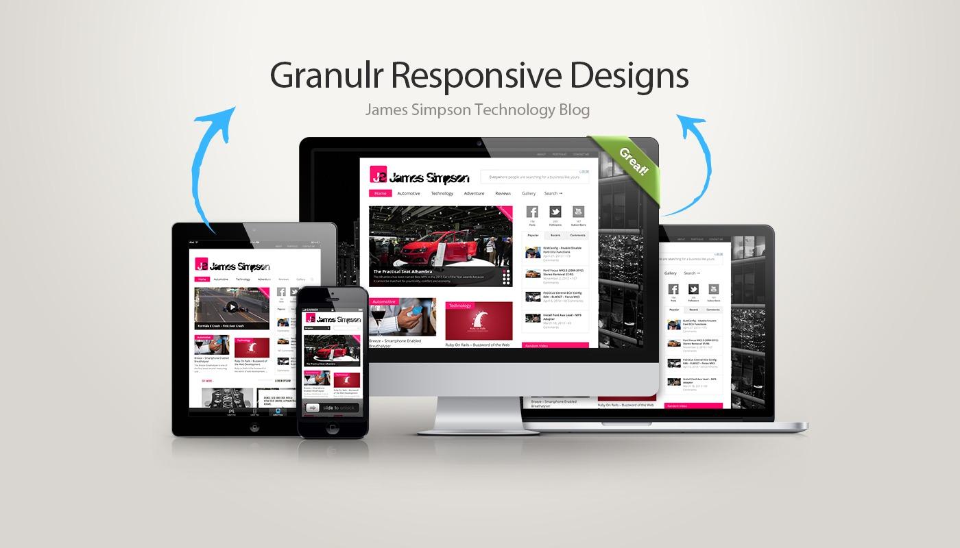 James Simpson Responsive Website Design