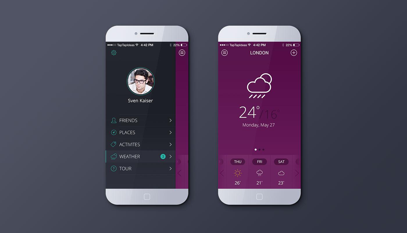 Wether App Mockup