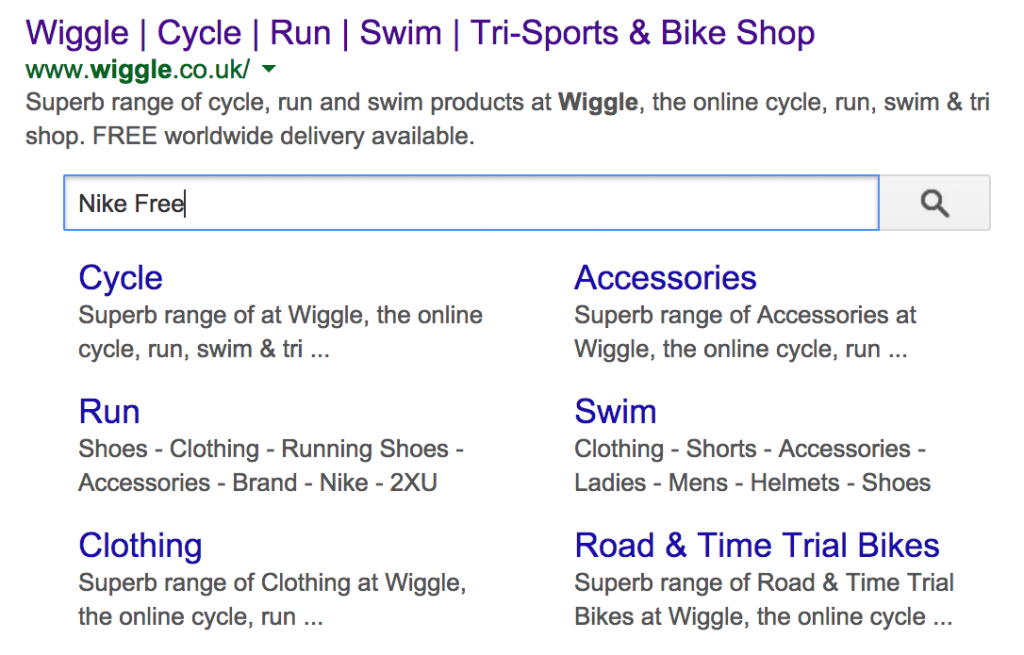 Google Site Search SERPS