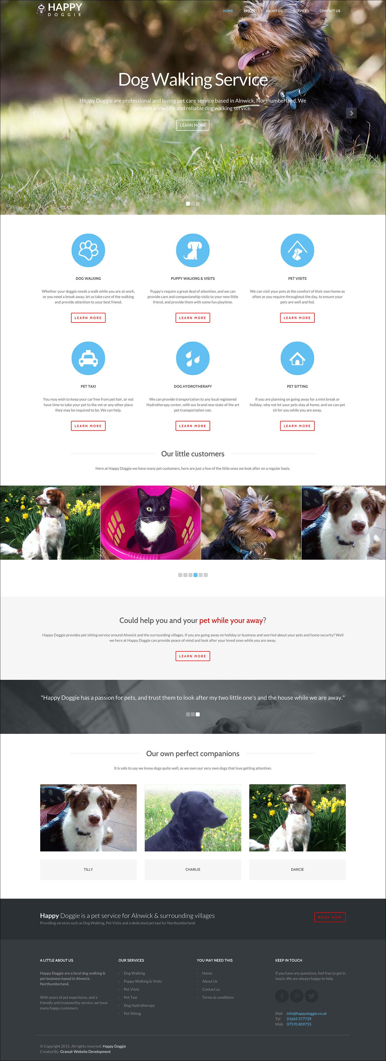 Happy Doggie Website By Granulr