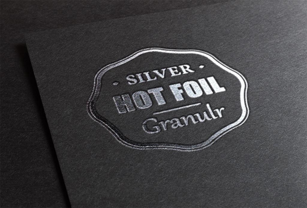 Granulr Silver Stamp Design