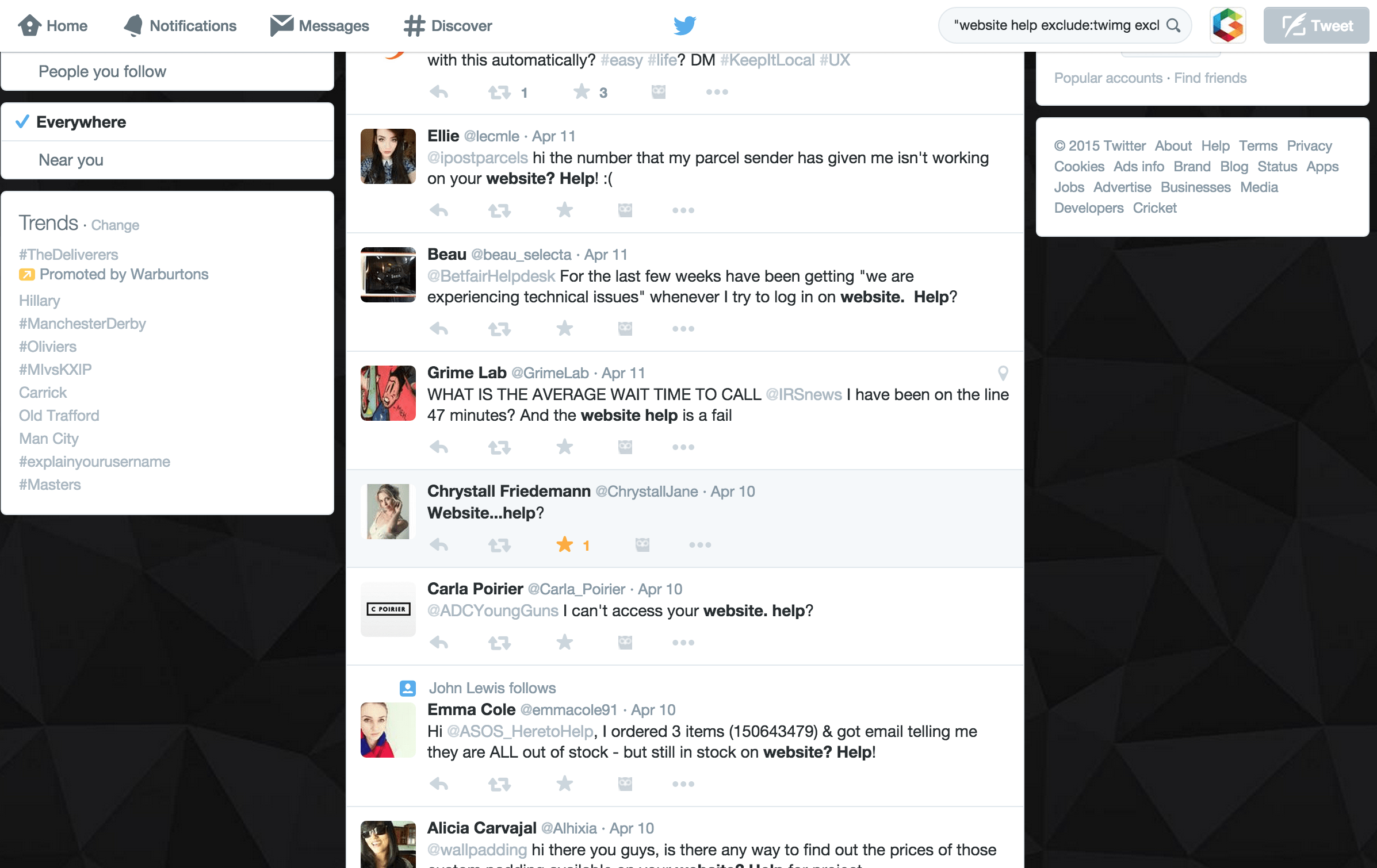 Twitter Feed Refined Results