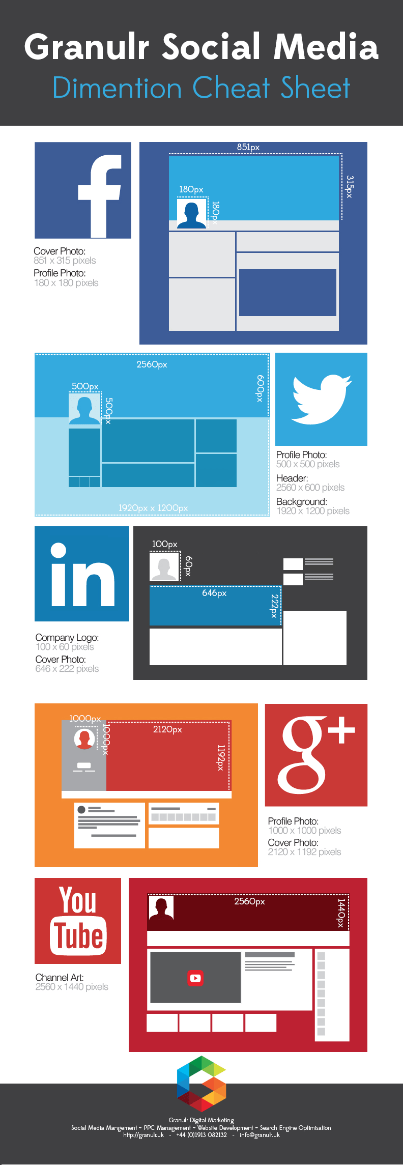 Social Media Image Size Cheat Sheet